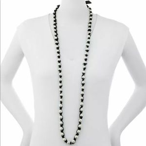— Lee Angel — Glass Pearl tie-up necklace